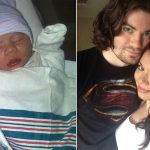 Dad uses coronavirus mask to tie umbilical cord after son is born