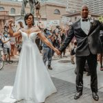 A couple got married in the middle of a Black Lives Matter protest after their ceremony was cancelled due to the coronavirus