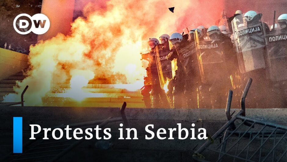 Serbia protests against the government's coronavirus response turn violent   DW News