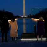 Joe Biden, Kamala Harris visit DC COVID-19 memorial on inauguration eve
