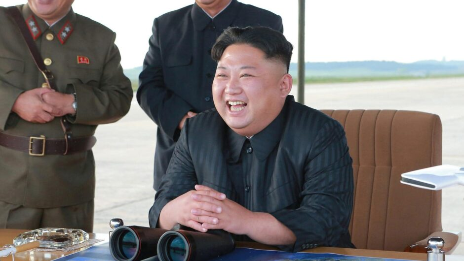 Satellite images show Kim Jong-Un's water-slide yacht in action, while North Korea struggles with famine and COVID-19